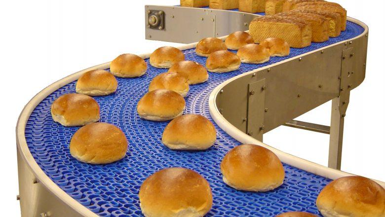 băng tải thực phẩm sản xuất bánh mì